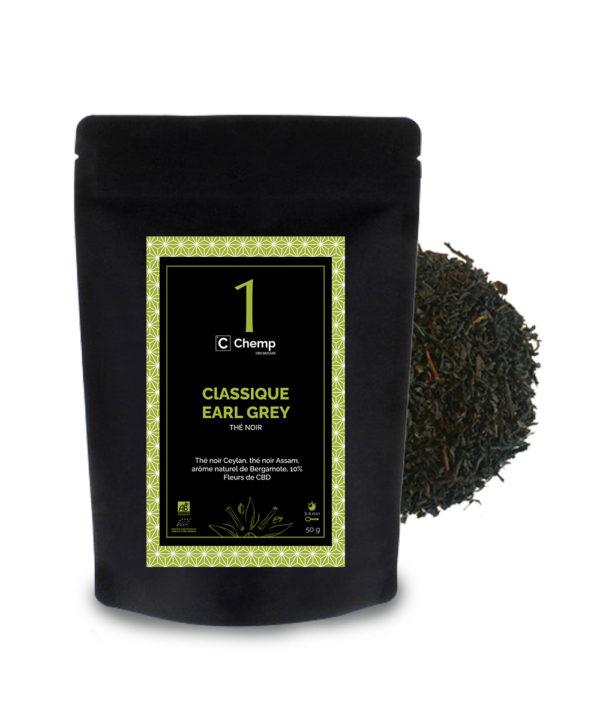 thé noir bio naturel classique earl grey CBD
