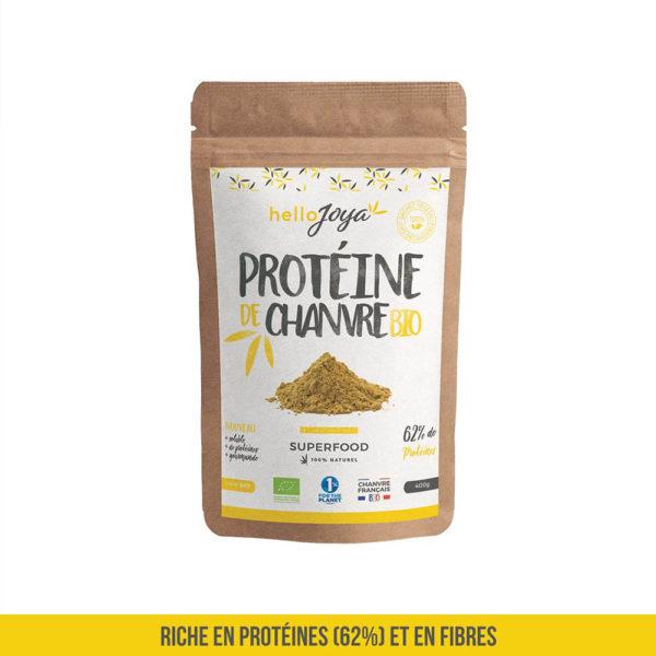 PROTÉINE DE CHANVRE BIO (62% DE PROTÉINES) - 400G