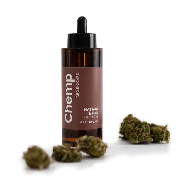 huile massage et soin CBD naturelle