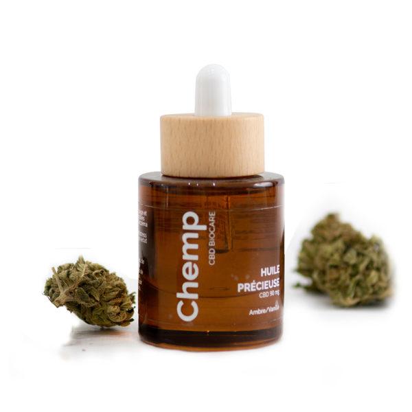 huile precieuse bio naturelle CBD ambré vanille